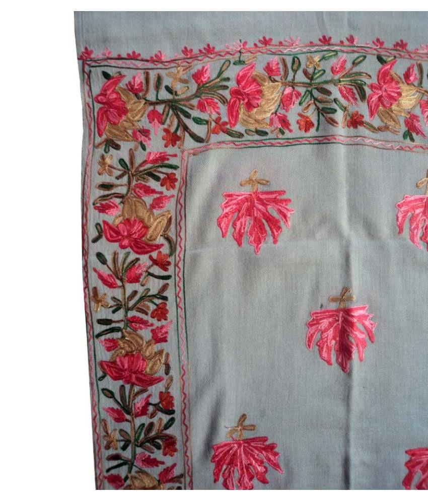 194e6308e9 Creative Kashmiri Semi Pashmina Woolen Shawl Creative Kashmiri Semi Pashmina  Woolen Shawl ...
