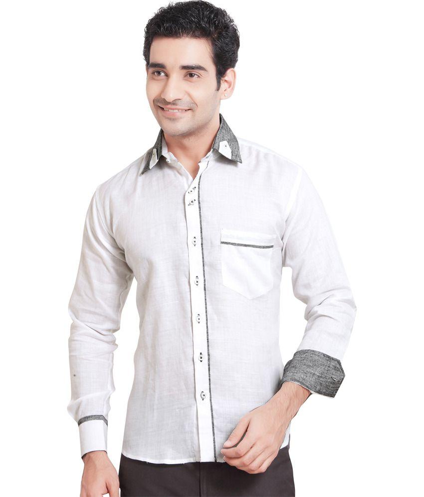 Griffin Griffin Remi-Linen Fabric Blend Shirt