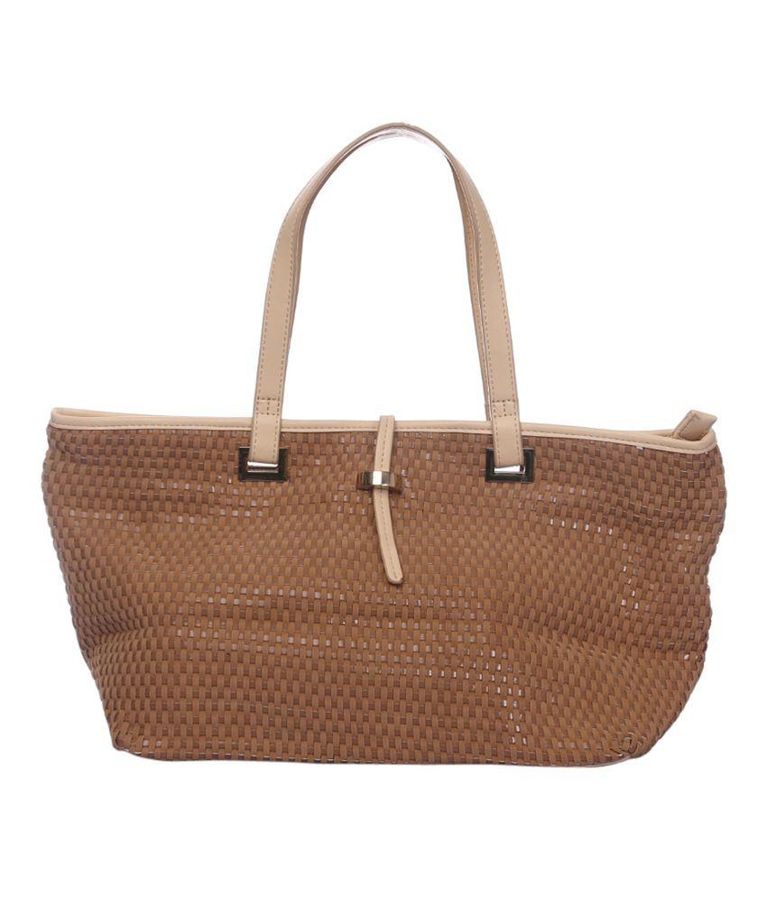 Modo Brown P.u. Tote Bags