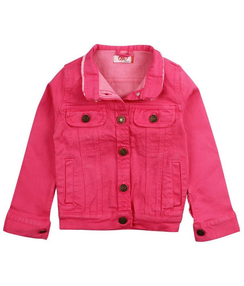 Oye Coloured Denim Jacket - Pink