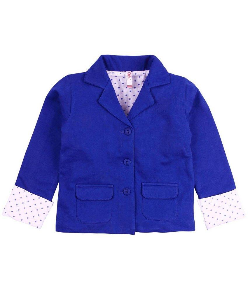 Oye Full Sleeve Jacket - Royal Blue