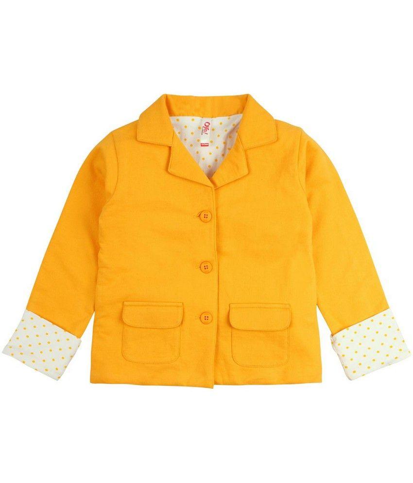 Oye Full Sleeve Jacket - Yellow