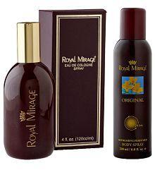Royal Mirage Original EDC 4 Fl Oz Men Perfume With Body Deodrant