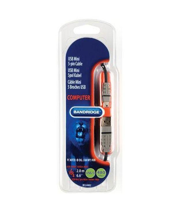 Bandridge Usb Mini 5 Pin Cable  2.0 M