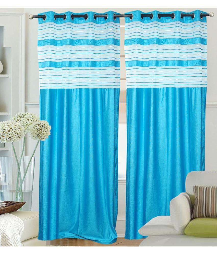 Fantasy Home Decor Set Of 4 Door Eyelet Curtains Buy