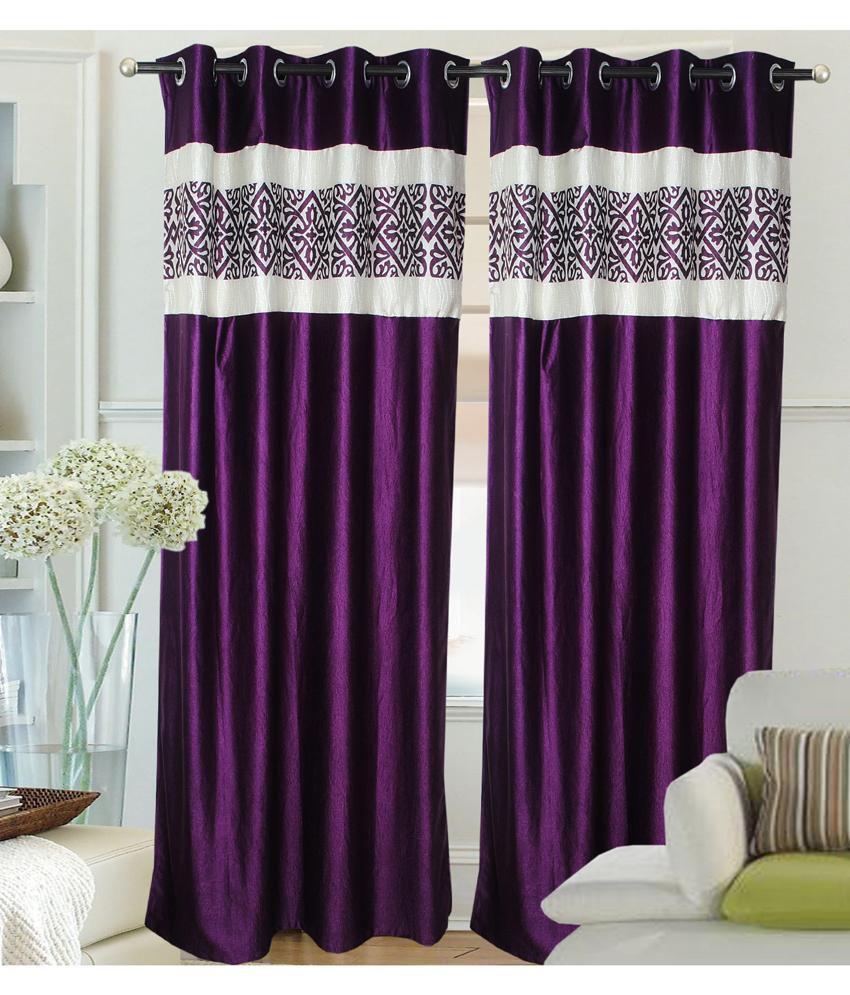 Fantasy Home Decor Set Of 2 Door Eyelet Curtains