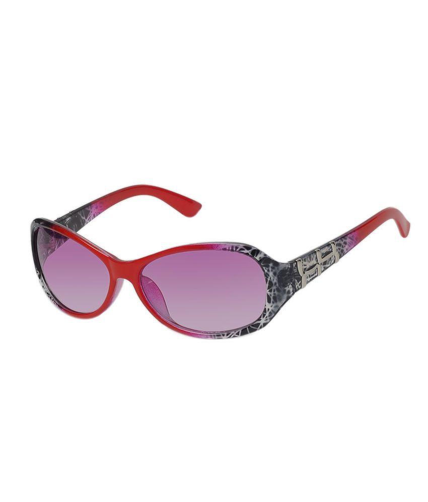 Hawai Purple Oval Women Casual Sunglasses
