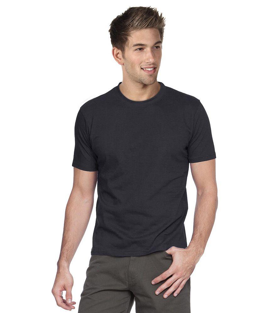 Republic Of California Black Cotton Round Neck T Shirt