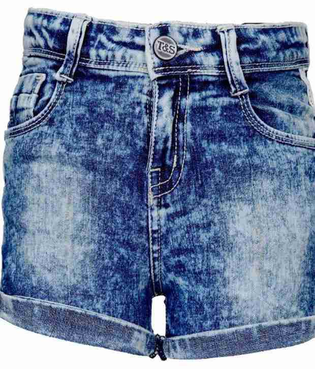 Tales & Stories Blue Slouchy Shorts