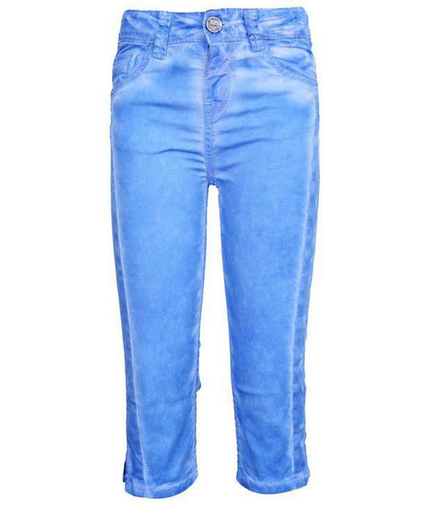 Tales & Stories Blue Washed Effect Capri
