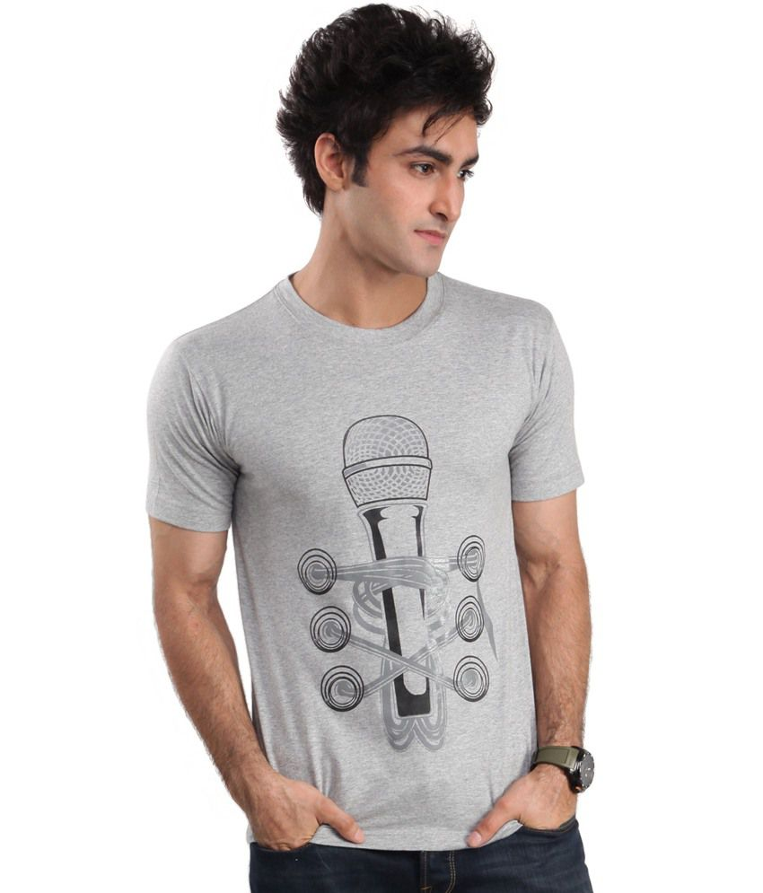 Zezile Mile Grey Printed Tshirt