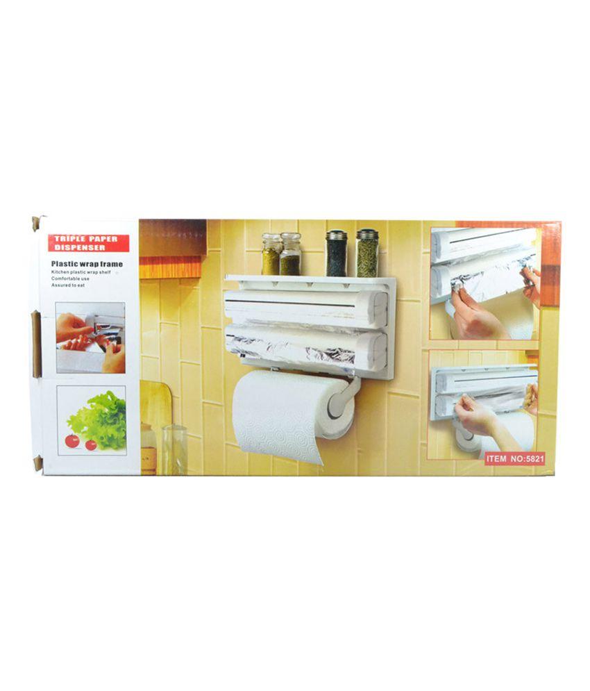... And Retails Triple Paper Dispenser For Cling Film Wrap Aluminium Foil U0026 Kitchen  Roll