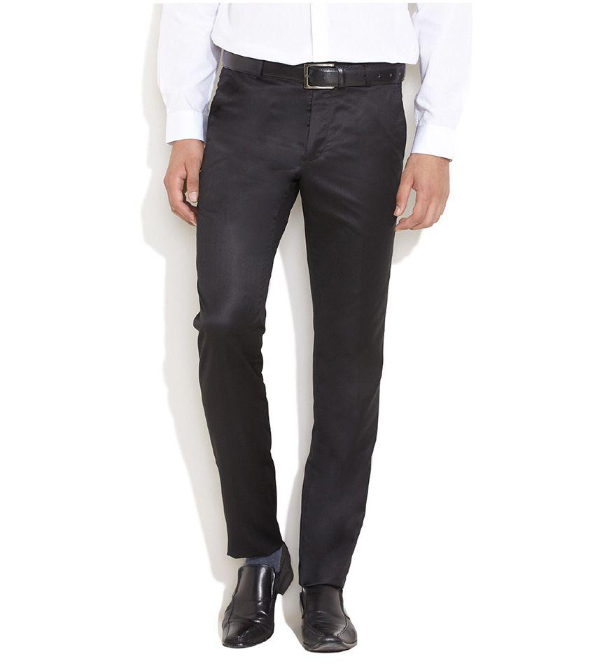 Daniel Hechter Black Corporate Flat Front Trousers