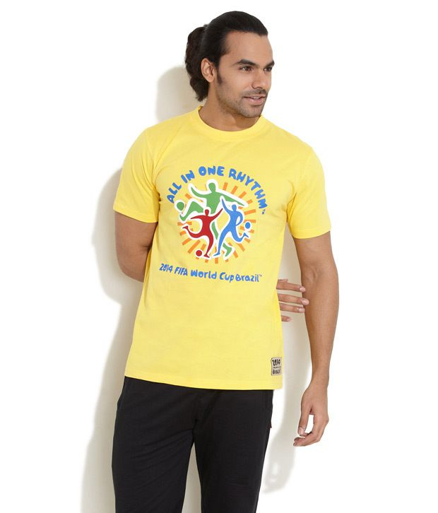Fifa Yellow In One Rhythm World Cup T-Shirt