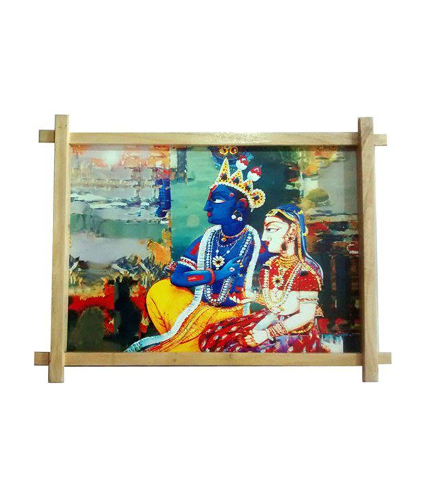 Gifts And Arts Radha Krishna Dabholkar Painting Wall Frame