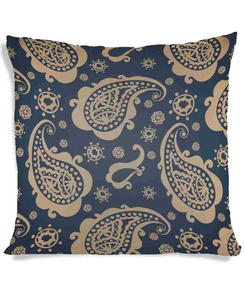 Imerch Textured Leafs Paint Cushion Cover