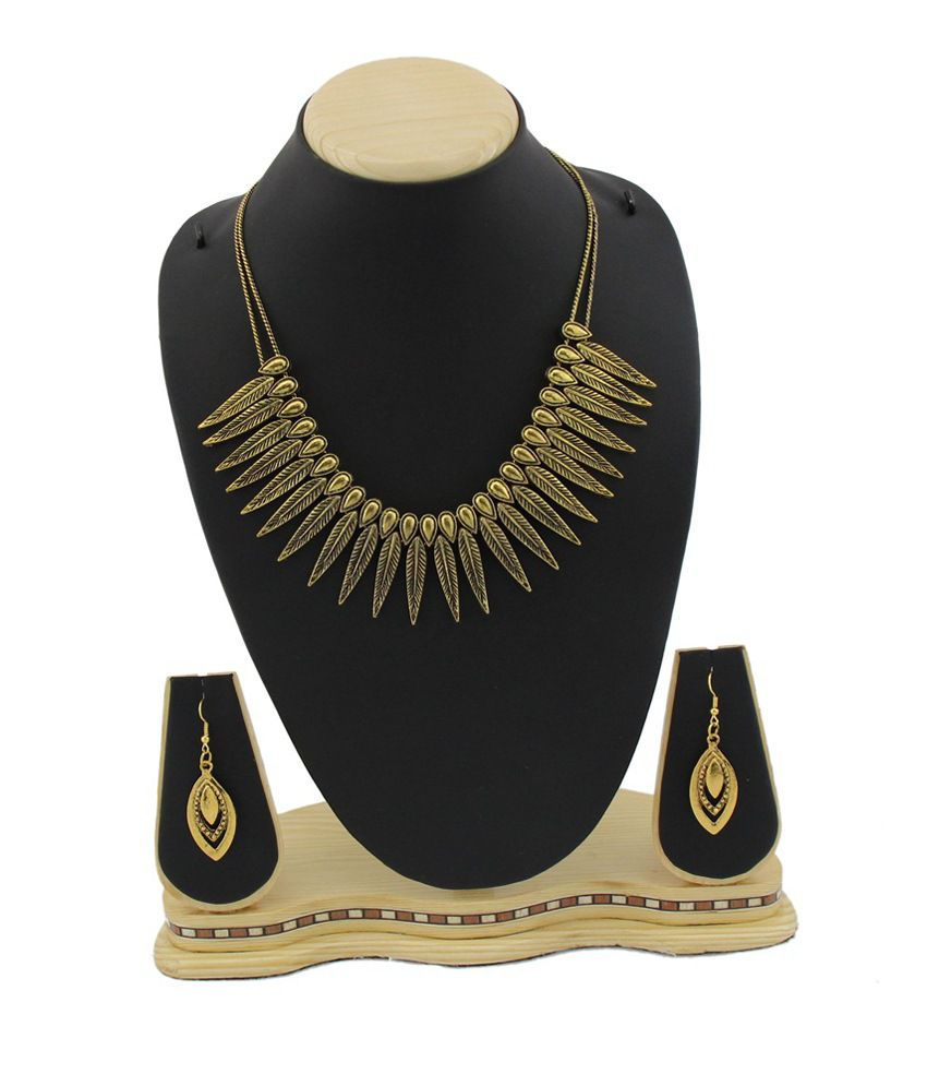Jstarmart Golden Traditional Alloy Necklace