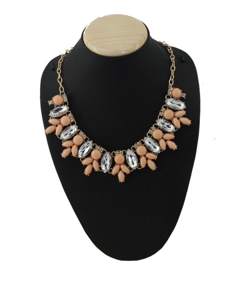Jstarmart Orange Traditional Alloy Necklace