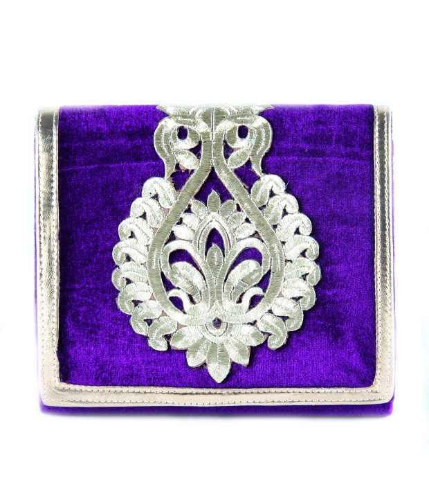 Saisha Fcb0079 Purple Clutch