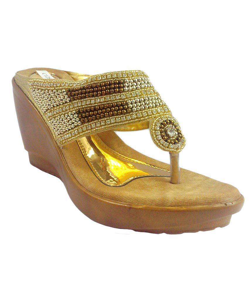 Shoe Centre Gold Sequence Platform Heels Burmi