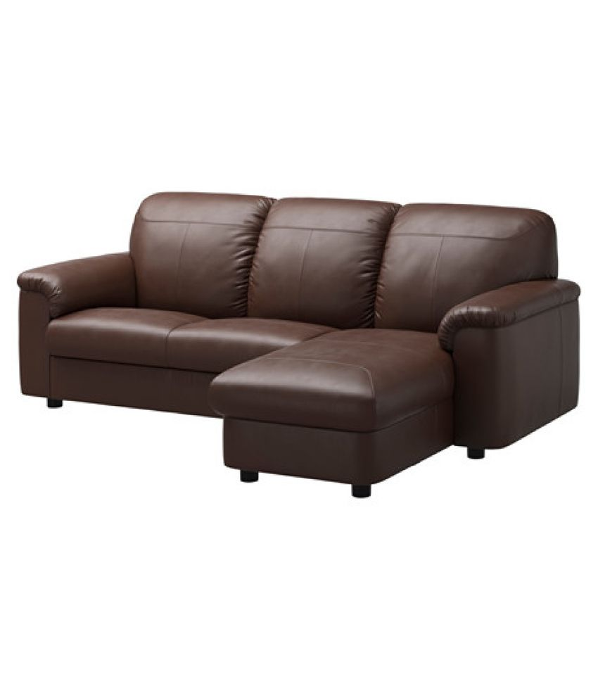 2 seater sofa with left chaise lounge brown buy 2 for Brown chaise lounge sofa