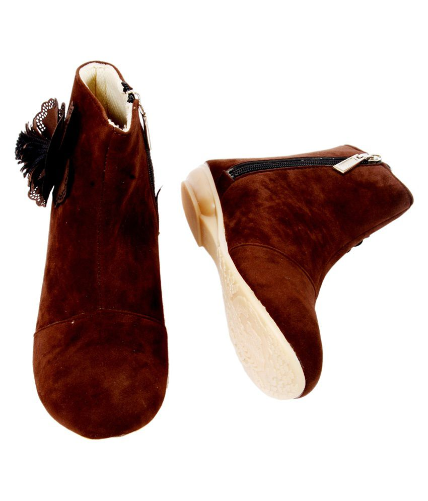 Darling Deals Brown Boots For Girls