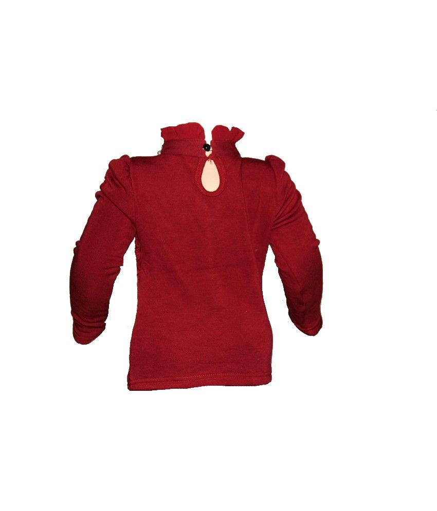 Habooz Full Sleeves Maroon Color Sweater For Kids - Buy Habooz Full ... 23e38dc51