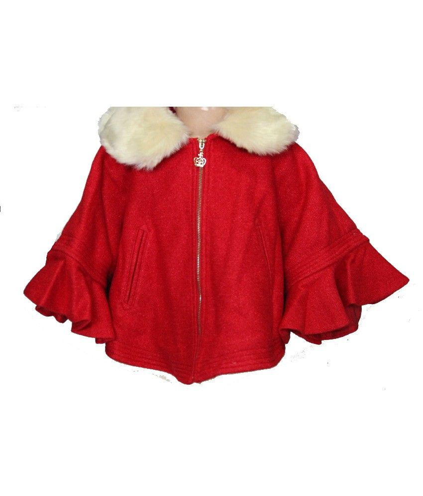 Habooz Full Sleeves Red Color Coat For Kids
