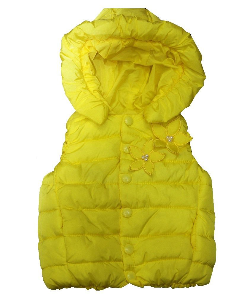 Habooz Half Sleeves Yellow Color Jacket For Kids