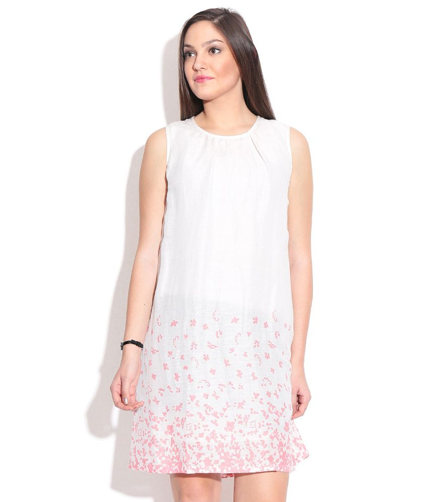 1560702630c Wills Lifestyle White Linen Dress - Buy Wills Lifestyle White Linen Dress  Online at Best Prices in India on Snapdeal