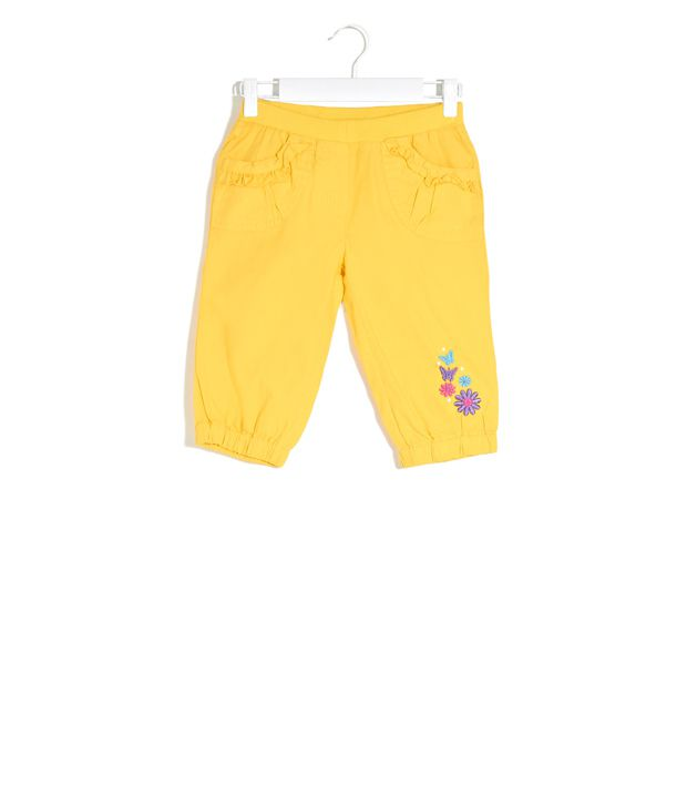 Cherokee Yellow Happy Hour Cropped Pants