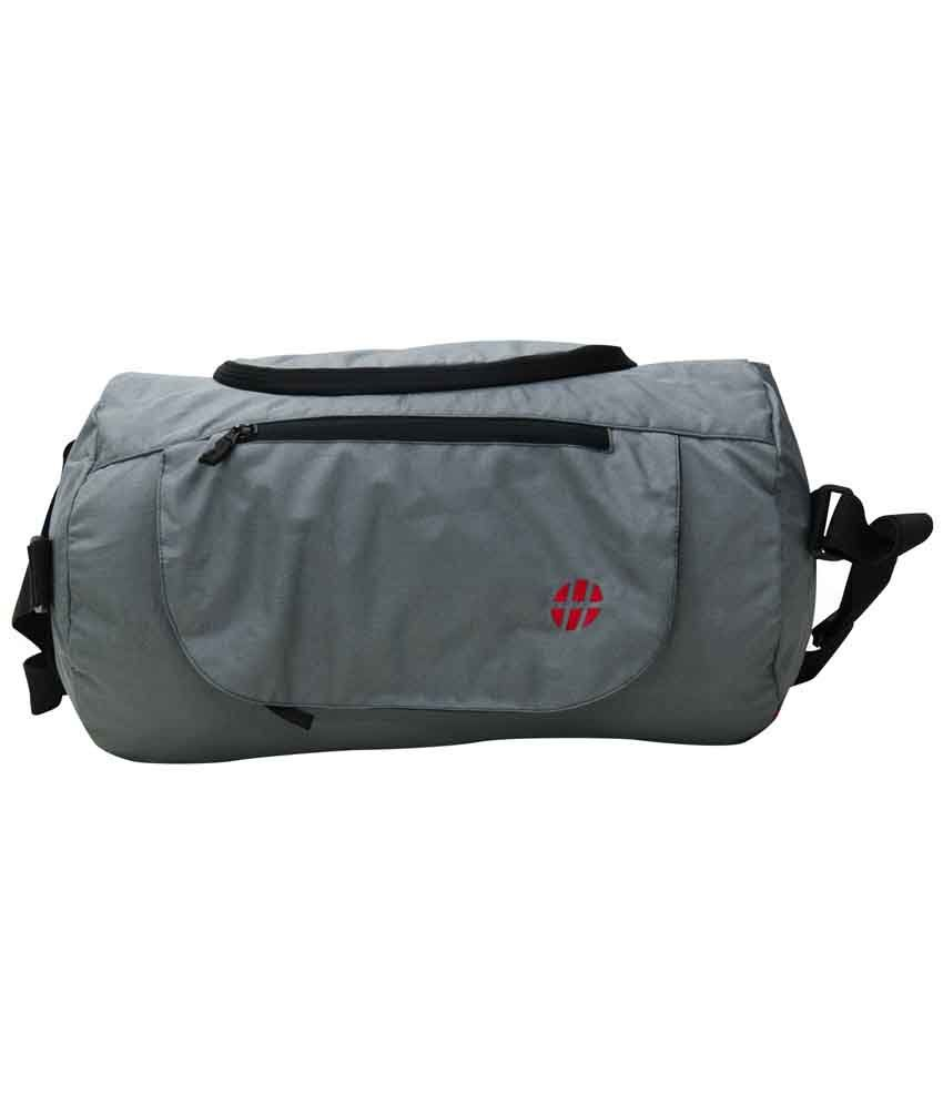 Harissons Grey Medium Polyester Gym Bag