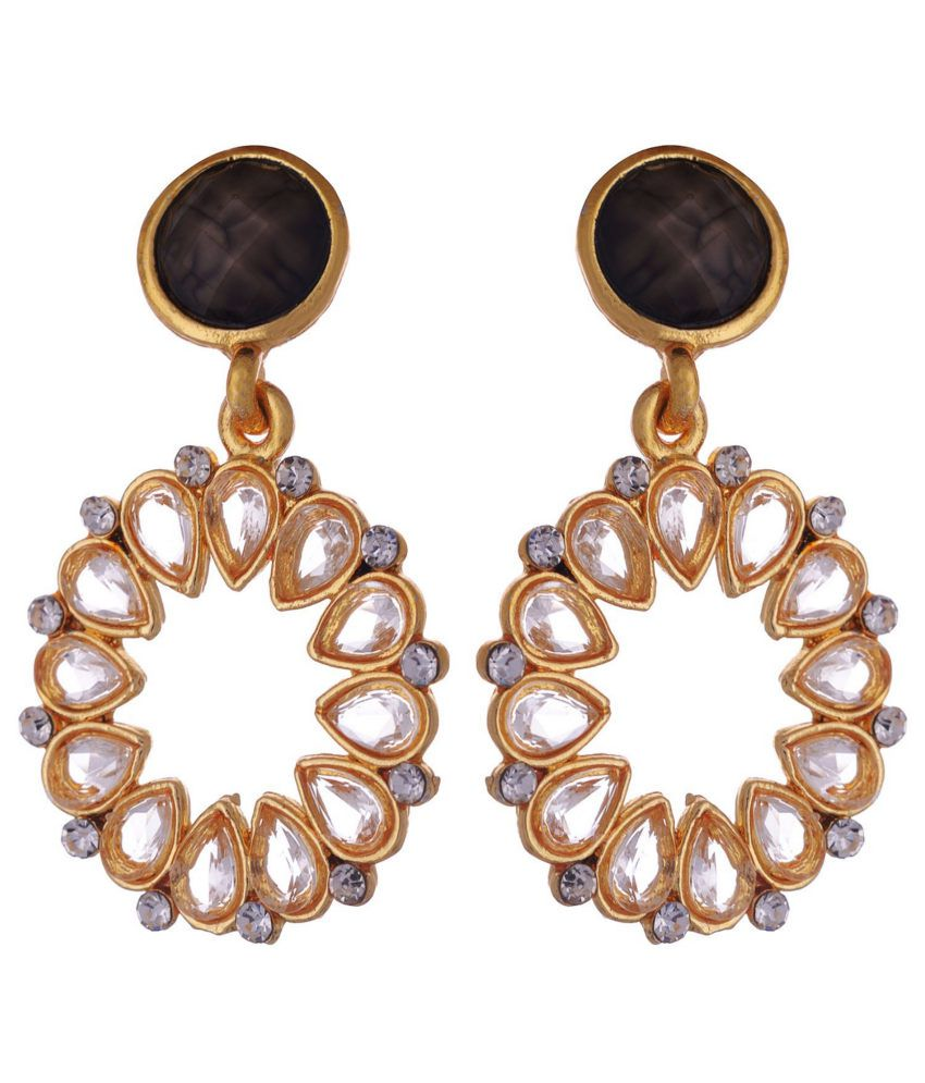 6250af40e Kshitij Indo Western Golden Chandelier Earrings - Buy Kshitij Indo Western  Golden Chandelier Earrings Online at Best Prices in India on Snapdeal