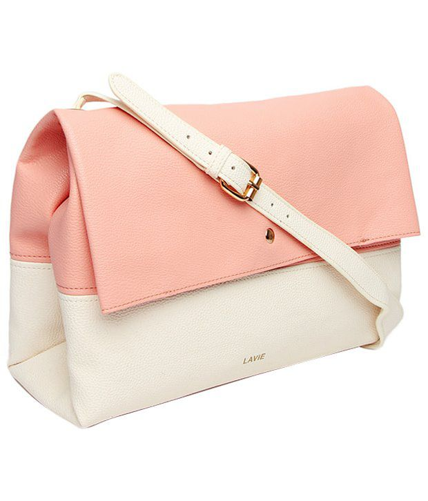 Lavie Pink And White Sling Bag - Buy Lavie Pink And White Sling ...