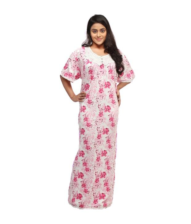 9618b1c5b Buy Naughty Pink Viscose Nighty Online at Best Prices in India - Snapdeal