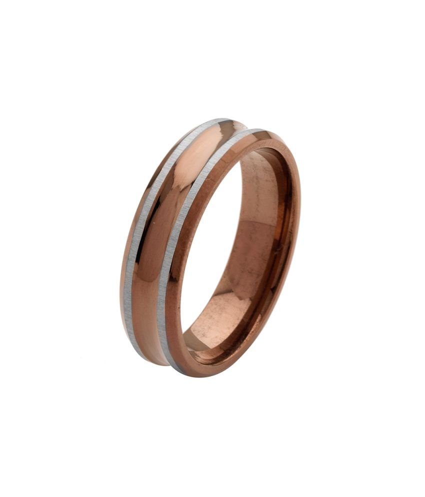 Voylla Bold and Masculine Stainless Steel Mens Ring, Size 22.0