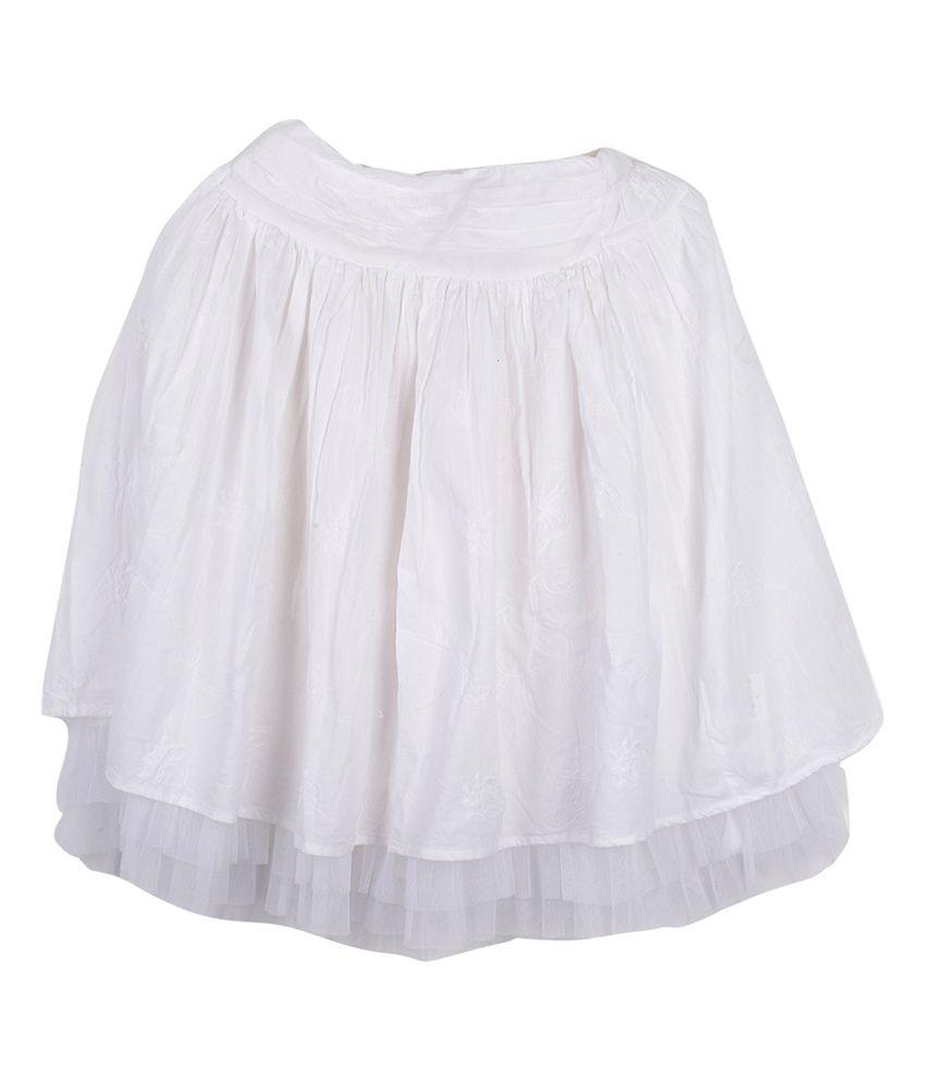 Lily & Tom Emb Skirt For Girls