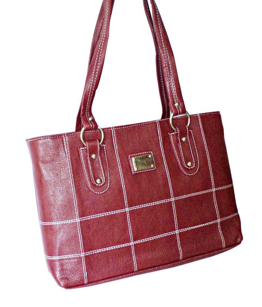 Sam-aira Maroon Zip Shoulder Bag