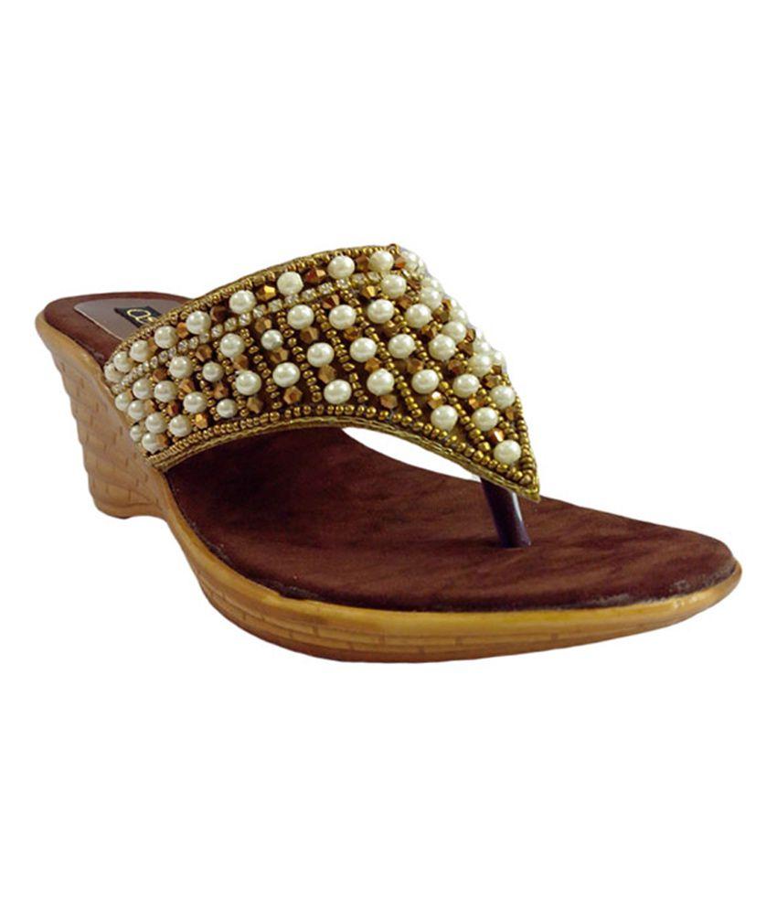 Shoe Centre Pearlsstone Studded Party Wear Burmi
