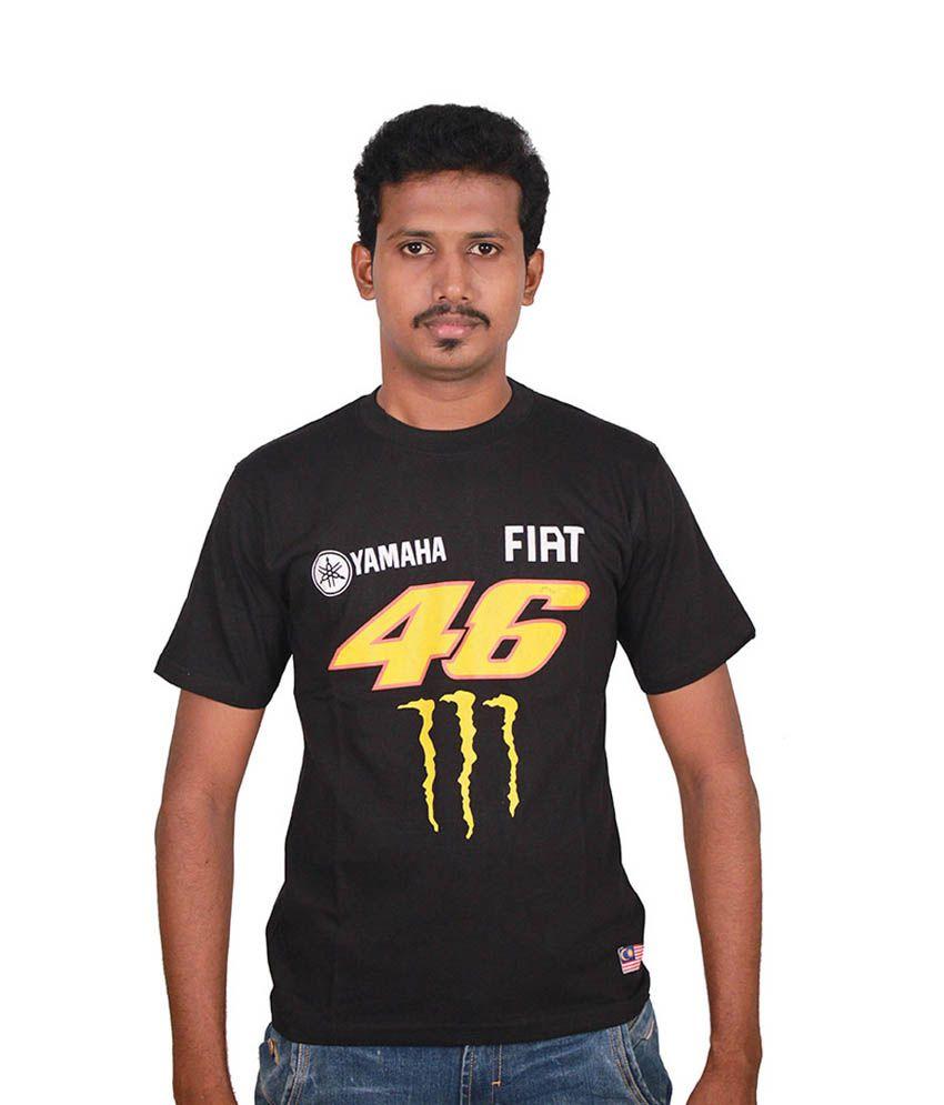 Steroid Black Motogp Cotton Valentino Rossi Fiat T Shirt