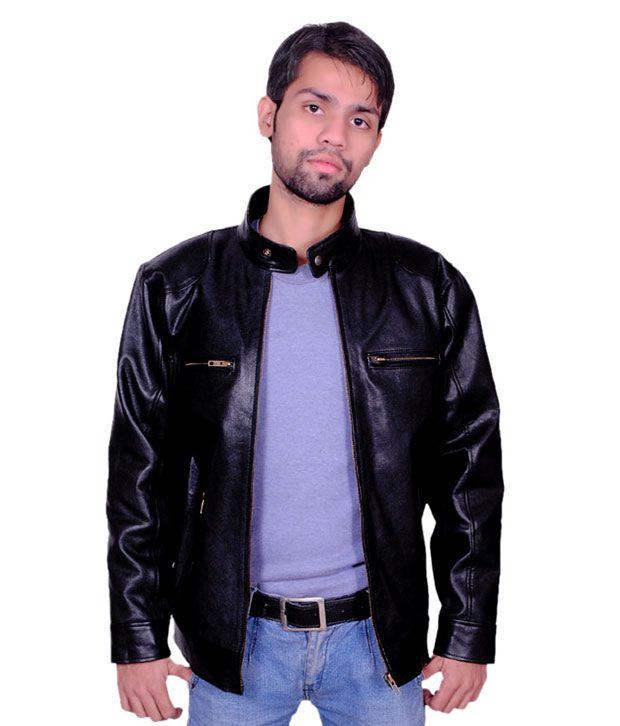 6c06a0c82 Trendfull Black Bike Rider Pure Leather Jacket - Buy Trendfull Black ...