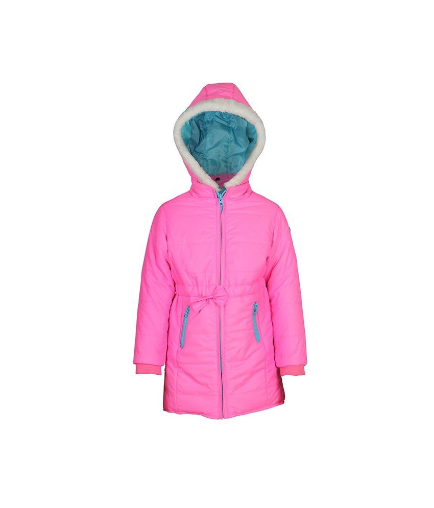 Ello Full Sleeve Pink Color With Hood Padded Jackets For Kids
