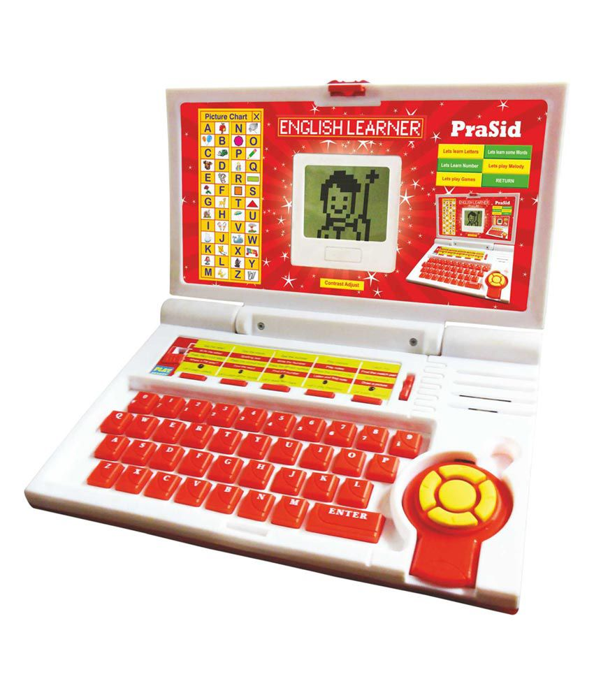 PraSid Kids English Learner Computer Toy Educational Laptop Red