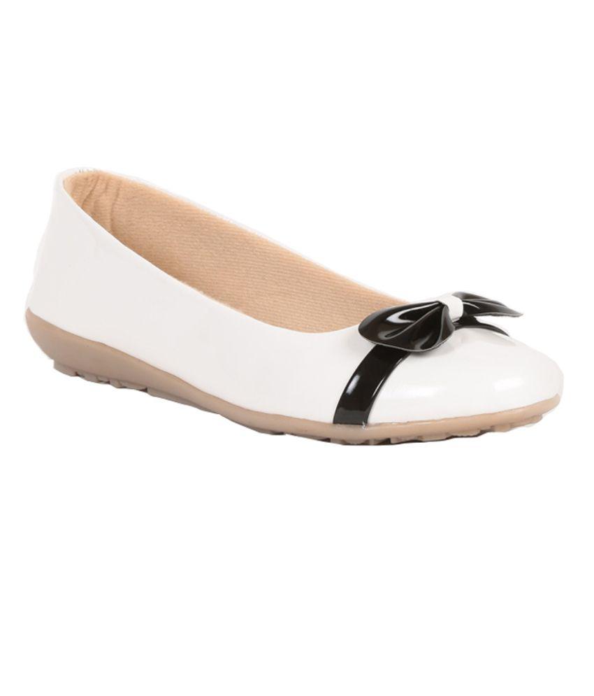 sindhi footwear white ballerinas price in india buy