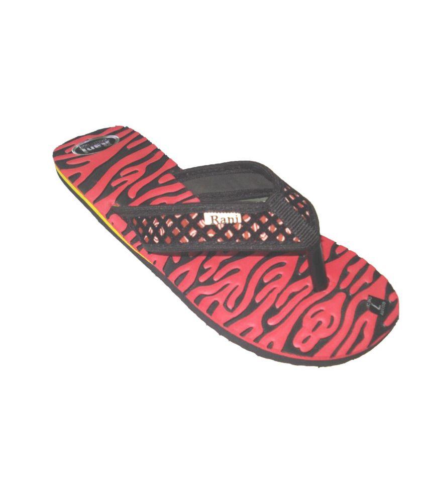 Tropic Red Flat Platform Slipper For Women