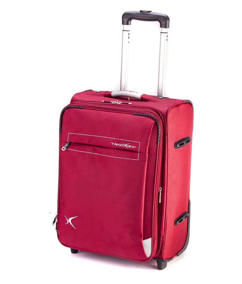 Red Jemi Red Canvas Travel Luggage