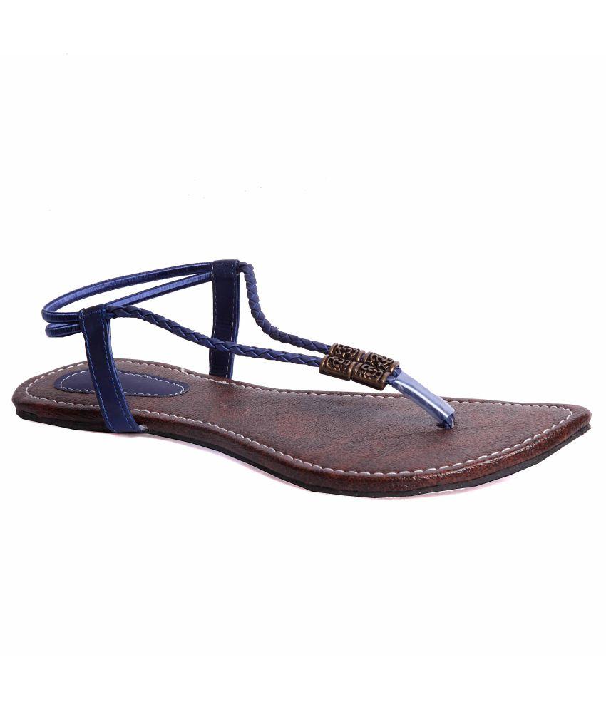 Leather Tex Blue Sandal