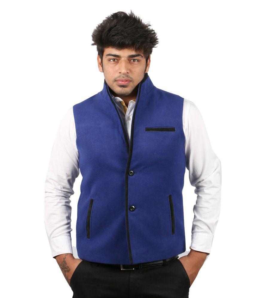Moladz Blue Biance Woollen Waistcoats