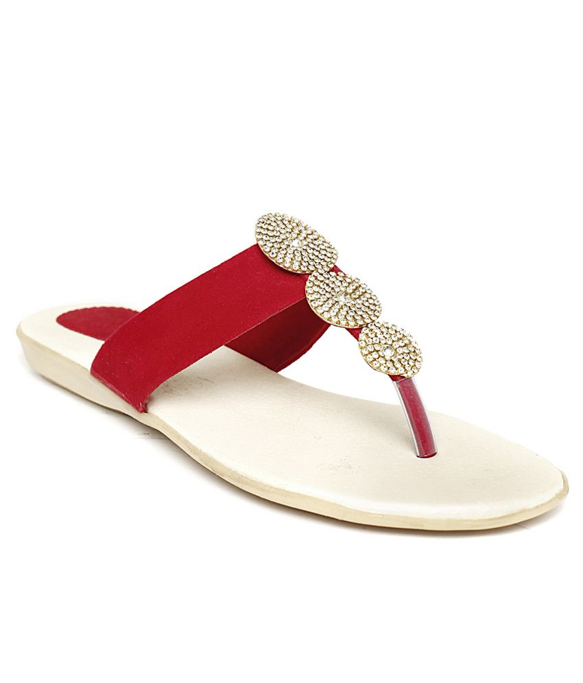 Foot Jewel Red Flat
