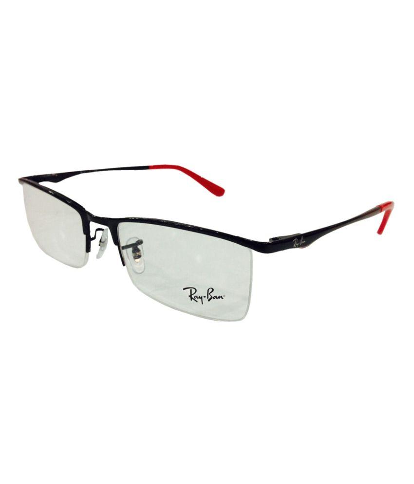 Half Frame Glasses Ray Ban : Rayban Black Half Frame Rb6323 2509 - Buy Rayban Black ...